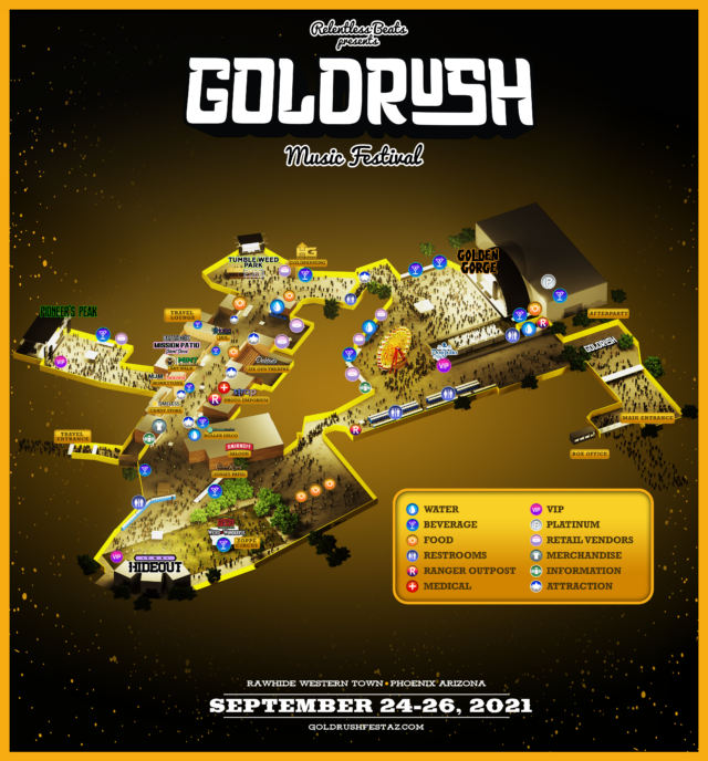 Goldrush Music Festival map and layout. Photo provided.