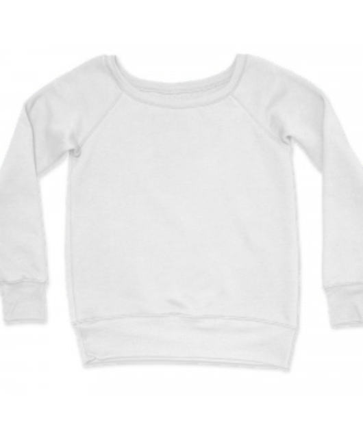 Ladies Fleece Wide Neck Sweatshirt