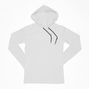 Lightweight T-Shirt Hoodie with Dark Gray Strings