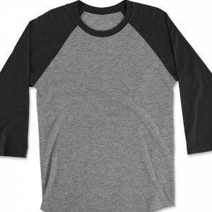 Raglan 3/4 Sleeve with Dark Heather Gray Base