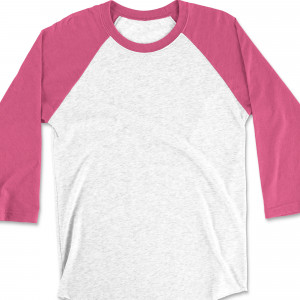 Raglan 3/4 Sleeve with Heather White Base