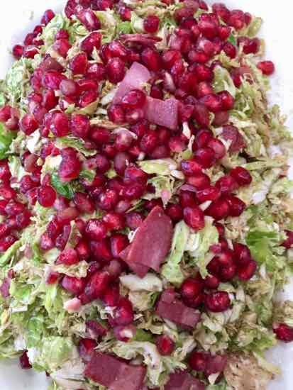 Frisee, Pomegranate, Turkey Bacon