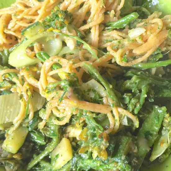 Pasta with fennel and broccolicini