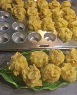 Mini Corn Muffins - Baked