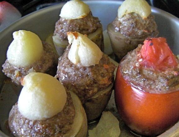 Meatball Stuffed Vegetables