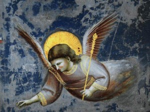 Giotto Bondone: Angel - (detail from Arena di Scroveggni)
