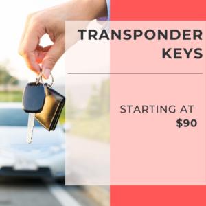 Transponder Keys Starting at $90