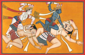 Krishna and Arjuna in Battle