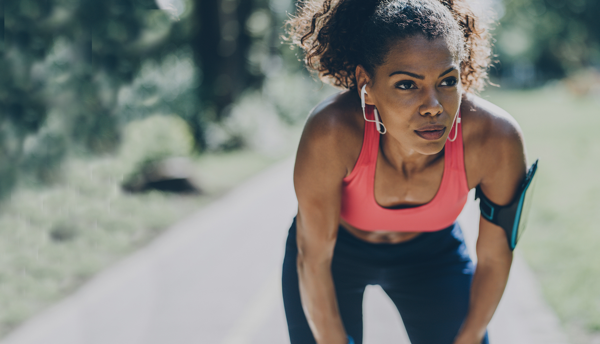 young african american woman out for a run after spine surgery with portland neurosurgeon dr. frank soldevilla