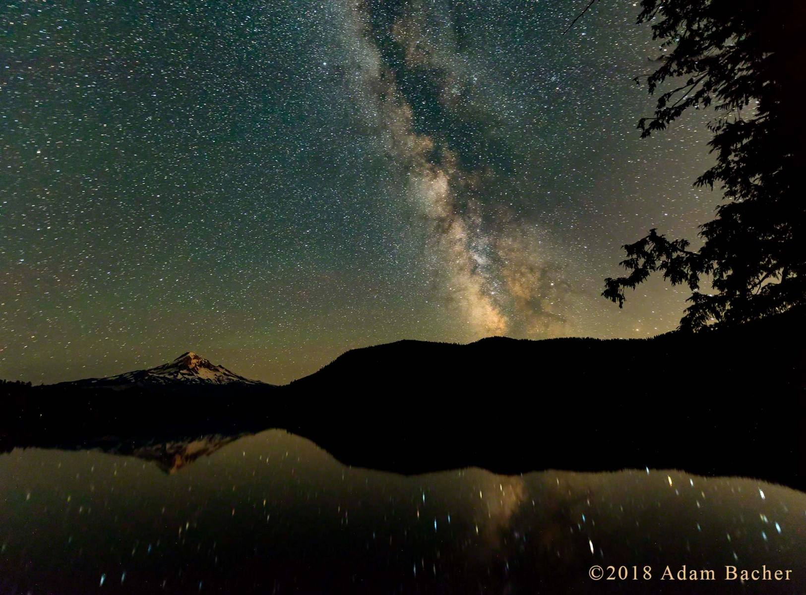 architecture of the universe: milky way night star photography, lost lake and mount hood, oregon