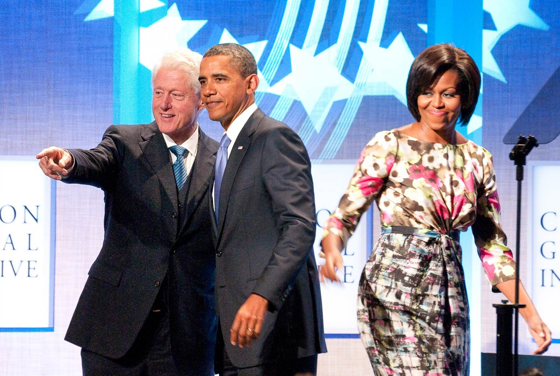 Presidents-bill-Clinton-barak-Obama-and-Michele-Obama