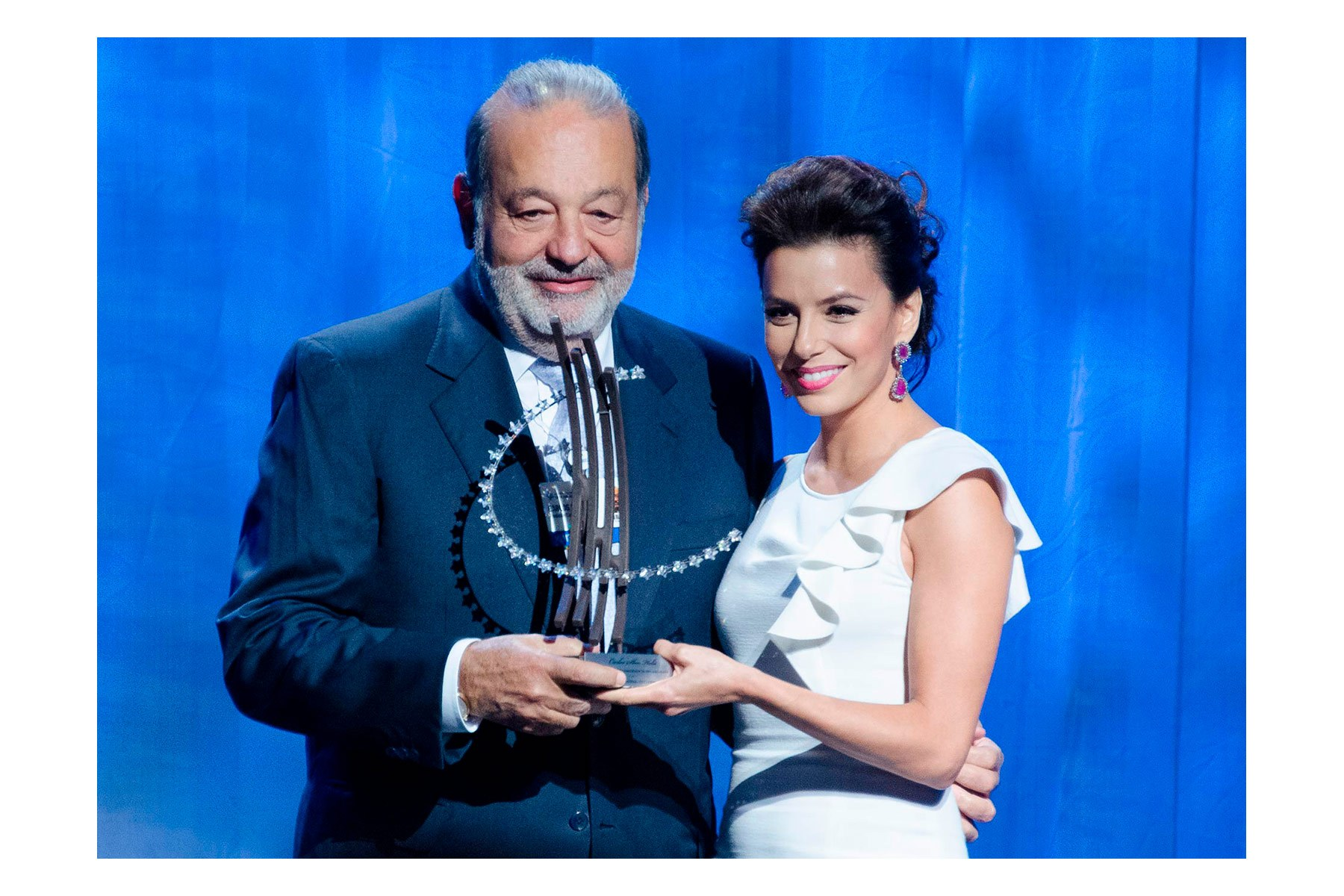 Eva Longoria, Carlos Slim Helú,  Global Citzen Awards, Clinton Global Initiative, CGI 2012 meetings, Designing for Impact, New York, September 2012