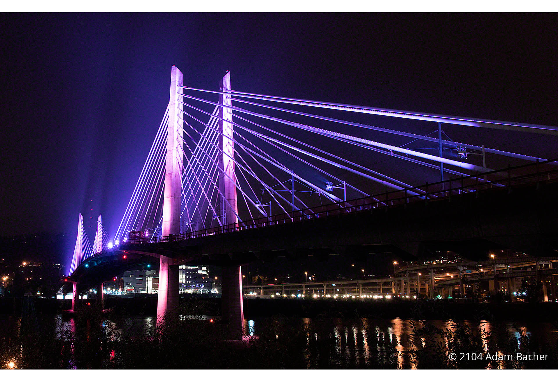 Tilikum Crossing Bridge – Night Photography