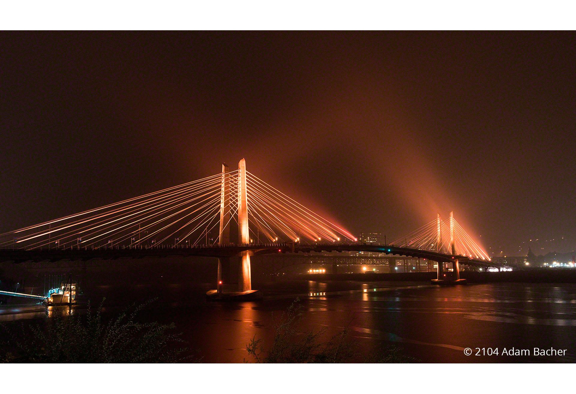 Tilikum Bridge by Portland Oregon architectural photographers