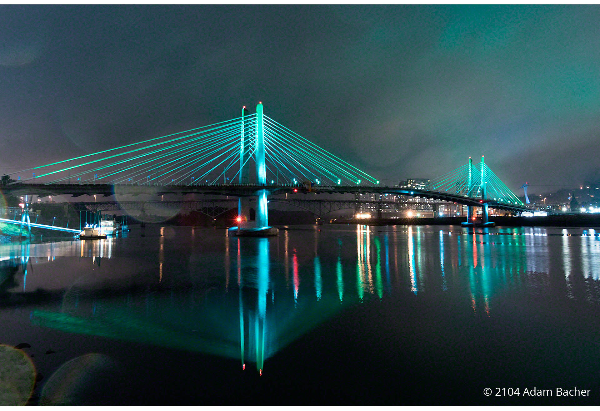 Tilikum Bridge by Portland Oregon architectural photographer