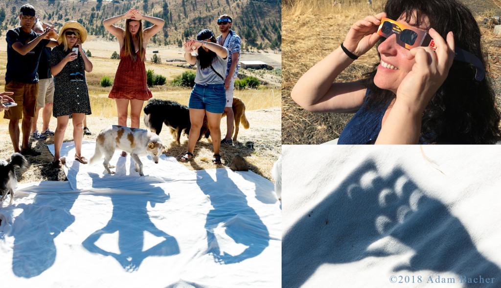 Eclipse party in Spray, Oregon.