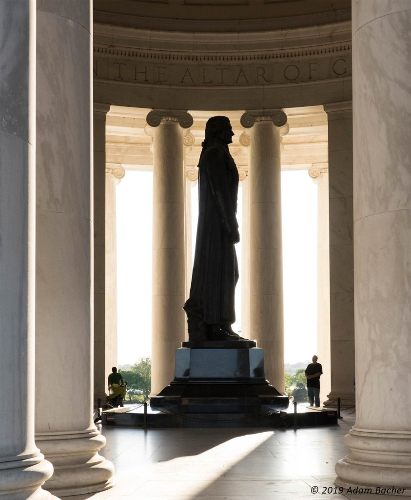jefferson memorial, washington dc, travel photography