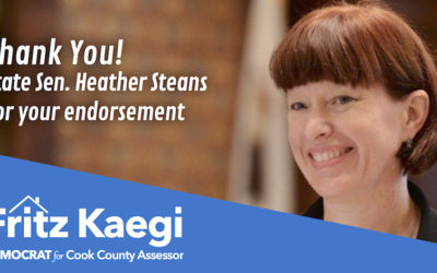 State Sen. Steans Endorses Progressive Democrat Kaegi for Cook County Assessor