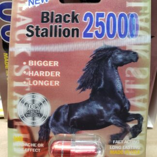 Black Stallion 25000 Male Enhancer all natural bigger harder longer lasts up to 7 days no headache no side effects