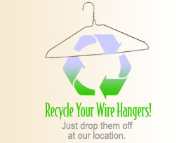 Donate your hangers at Maple Cleaners in Vienna