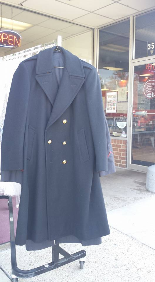 US Navy Overcoat Cleaning and Pressing