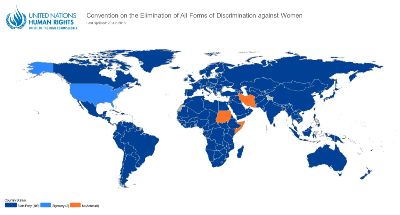Which Countries have Ratified CEDAW