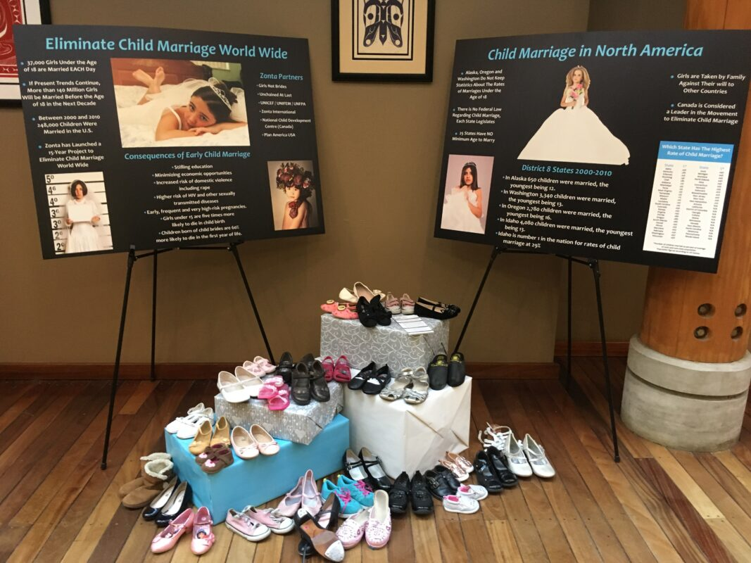 End Child Marriage shoe display