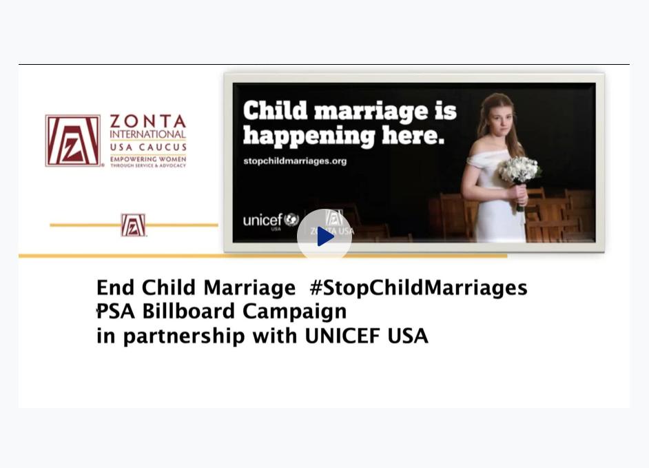 End Child Marriage PSA Campaign