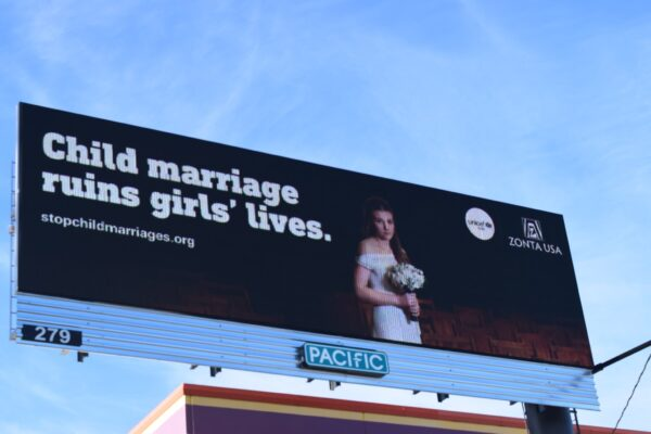 End Child Marriage Digital Billboard: Everett, Washington State