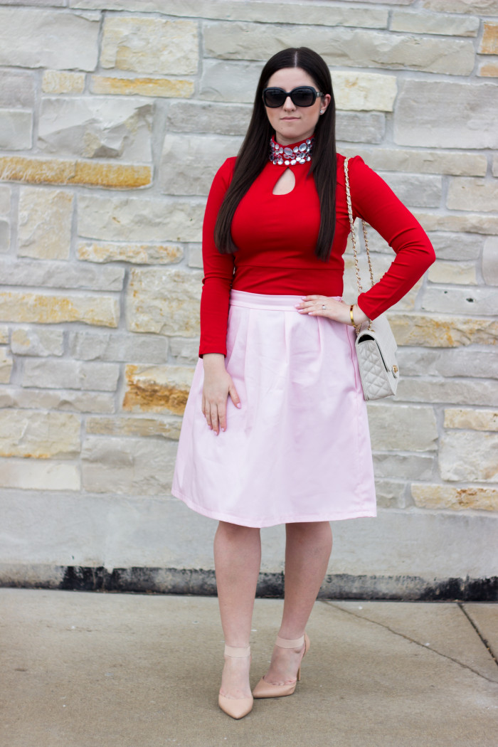 Red and Pink Look