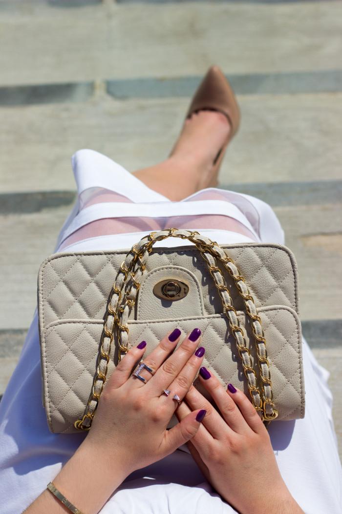 lace blush top