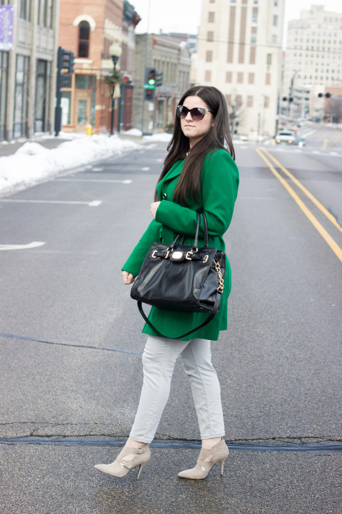 green and checkered outfit