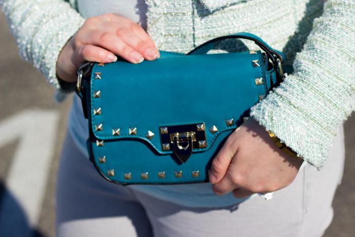rockstudded handbag