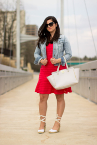 Casual In Red & Denim