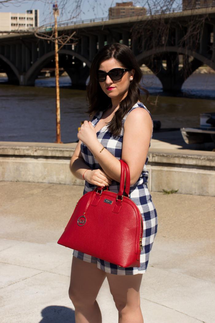 spring look, red handbag, old navy outfit, bcbg handbag,