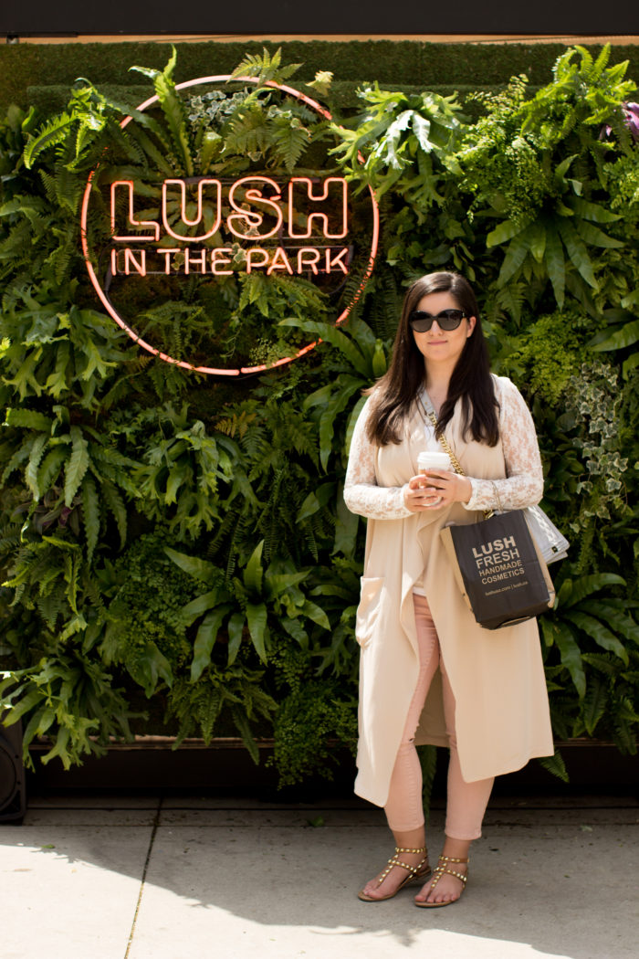lush in the park, lush cosmetics, cruelty free cosmetics, Lush in Chicago,