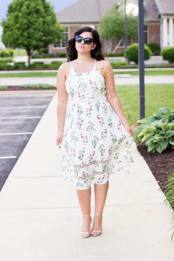 alice in wonderland kohls collection, kohls dresses, lauren conrad collection, summer dress, floral dress, whimsical fashion