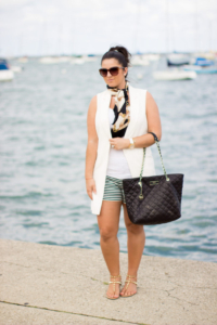 How to style a long vest in Summer