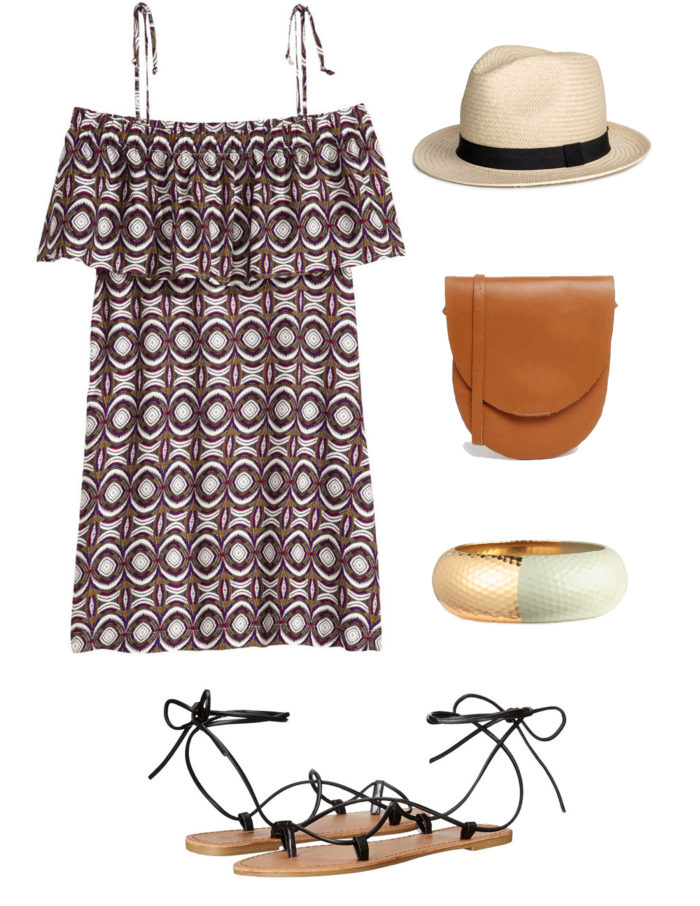 summer outfit under $50, h&m dress, festival outfit, casual summer outfit, beach outfit idea, boho casual style