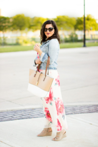 Transitioning into Fall with Floral Maxi Dress