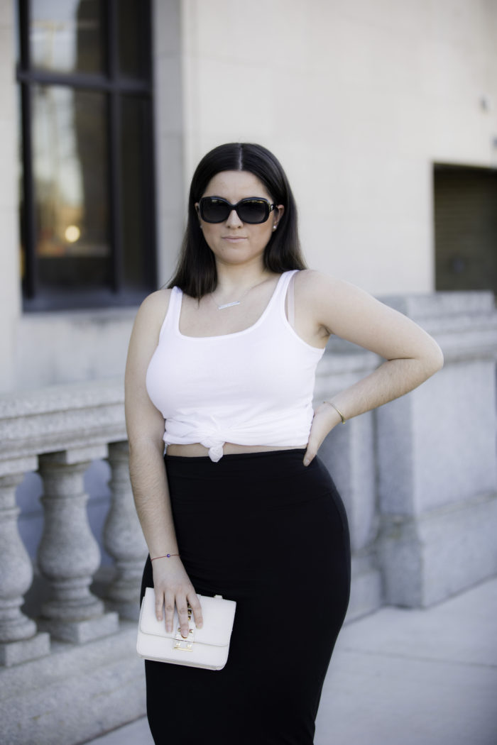 black and white outfit, baily lamb, kim kardashian outfit inspiration