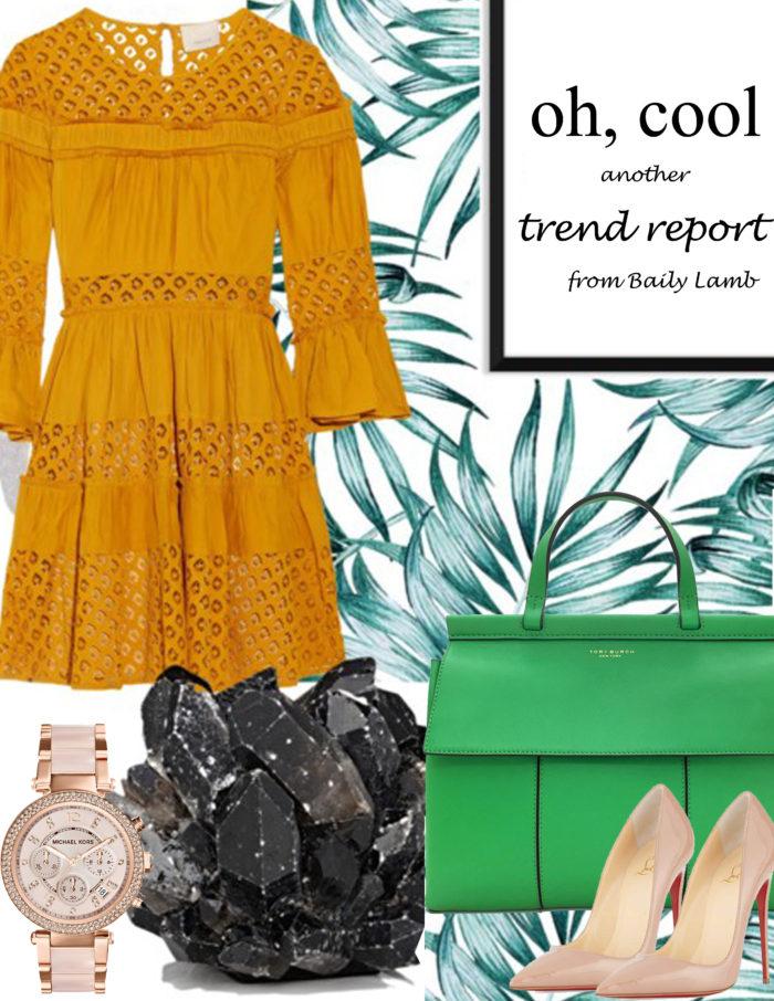 trend report, spring trend, green satchel