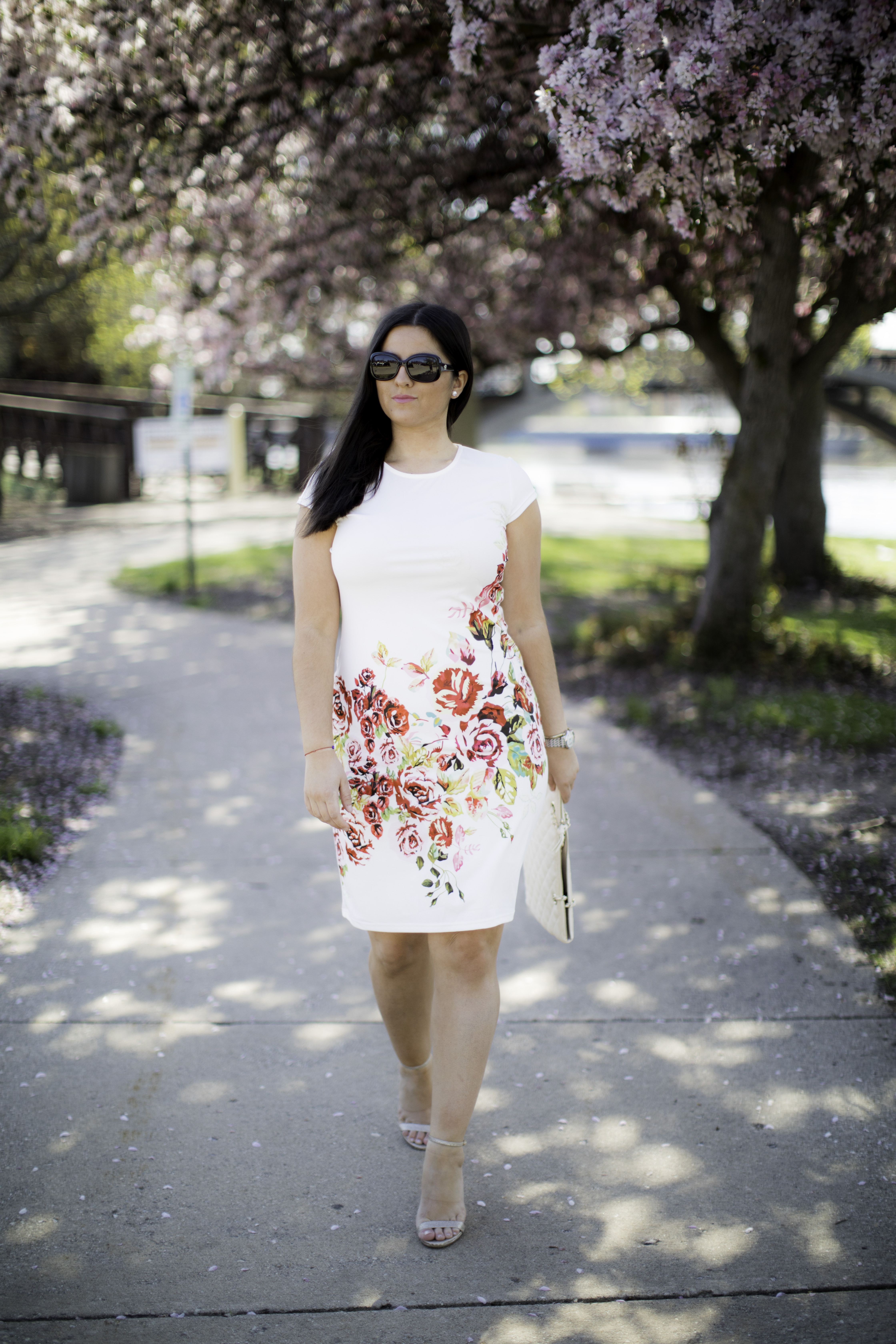 amazon fashion, floral dress, bailylamb, chicago fashion blogger, chicago fashion