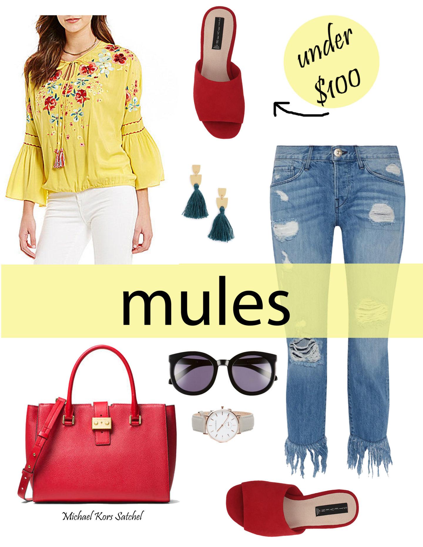 red steve madden mules under $100