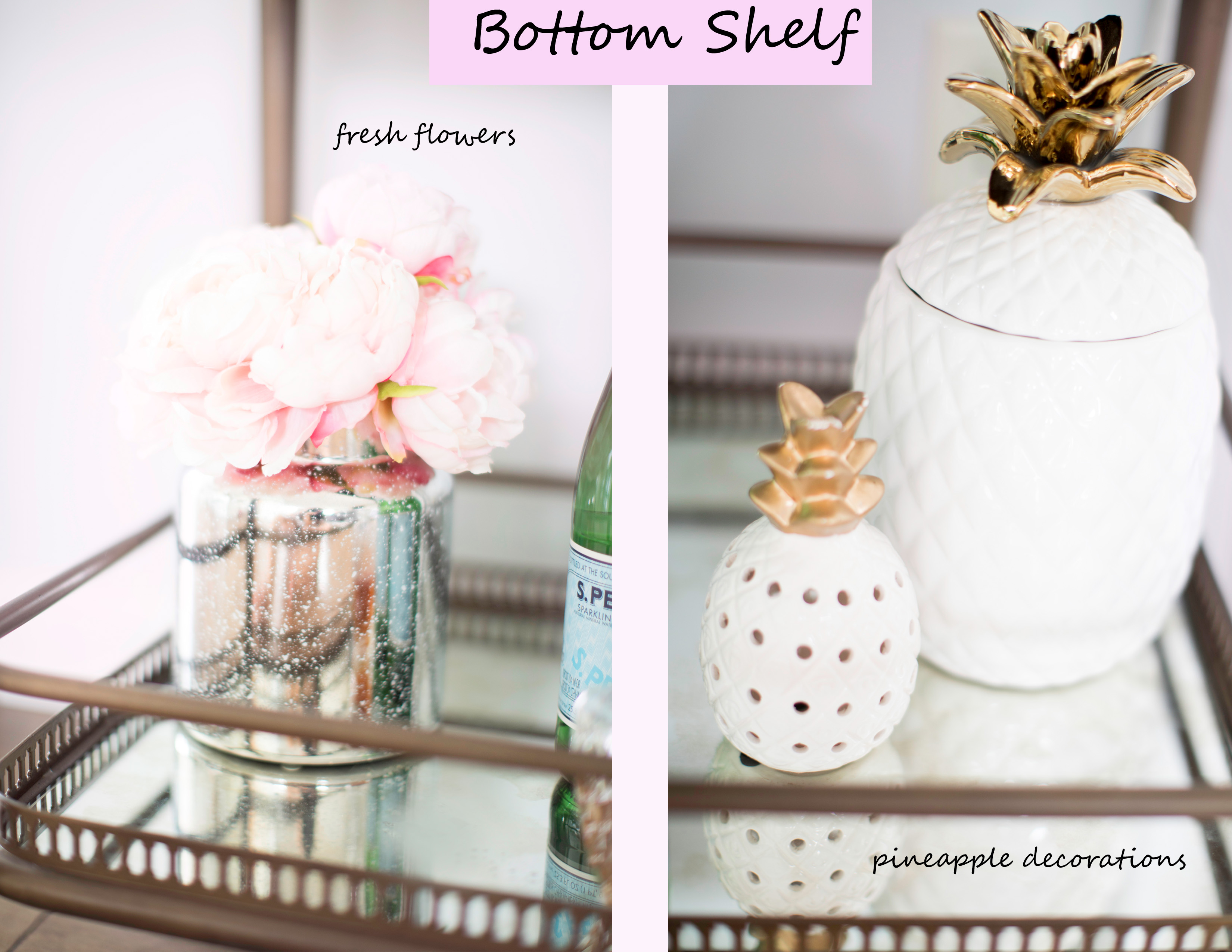 how to style a bar cart from soft surroundings, interior design, bar cart design, bar cart styling idea