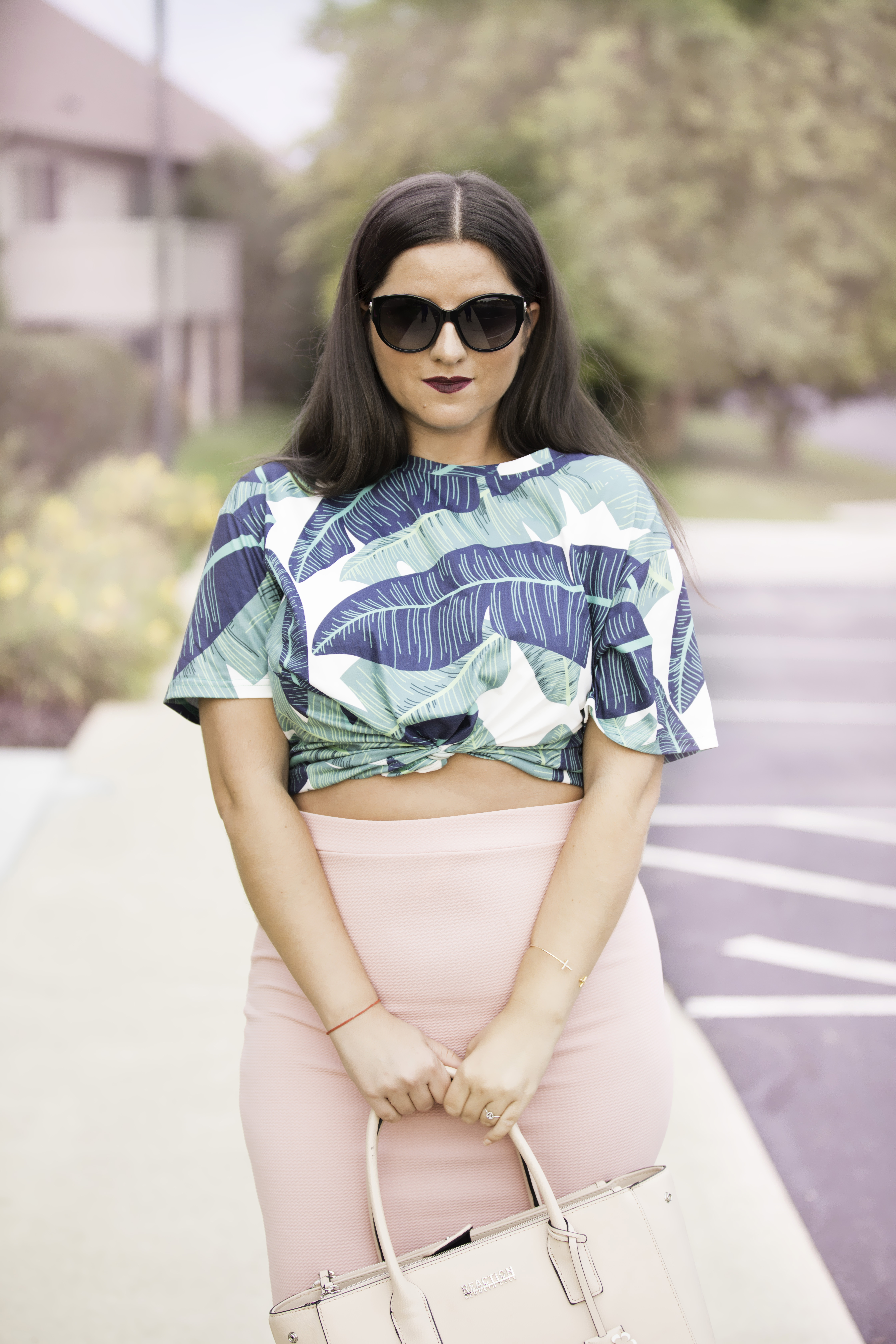 favorite crop top, palm tree crop top. baily lamb, chicago fashion blogger