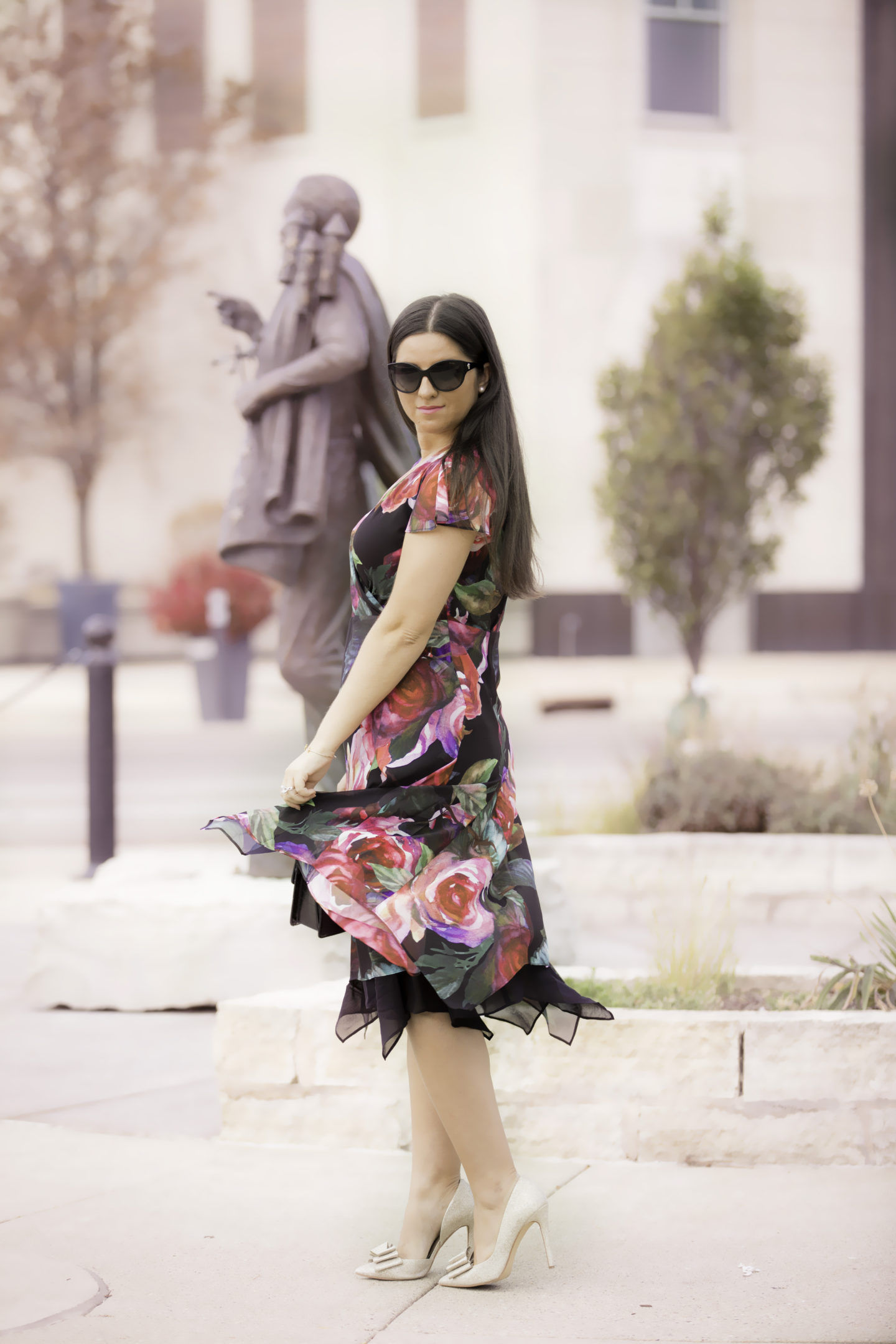 Soft Surroundings Fall Floral Dress