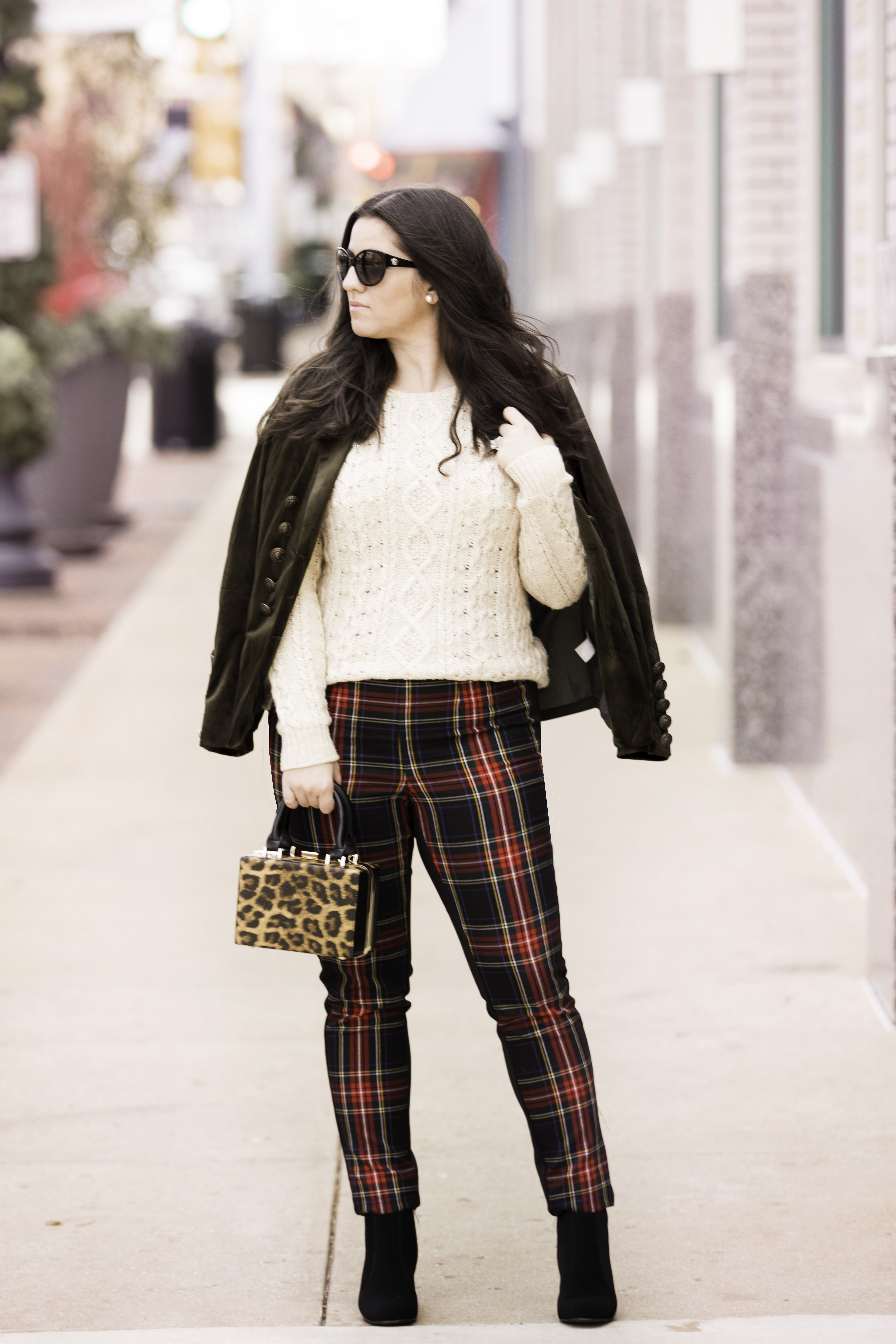 how to style a velvet jacket for winter, soft surroundings fashion