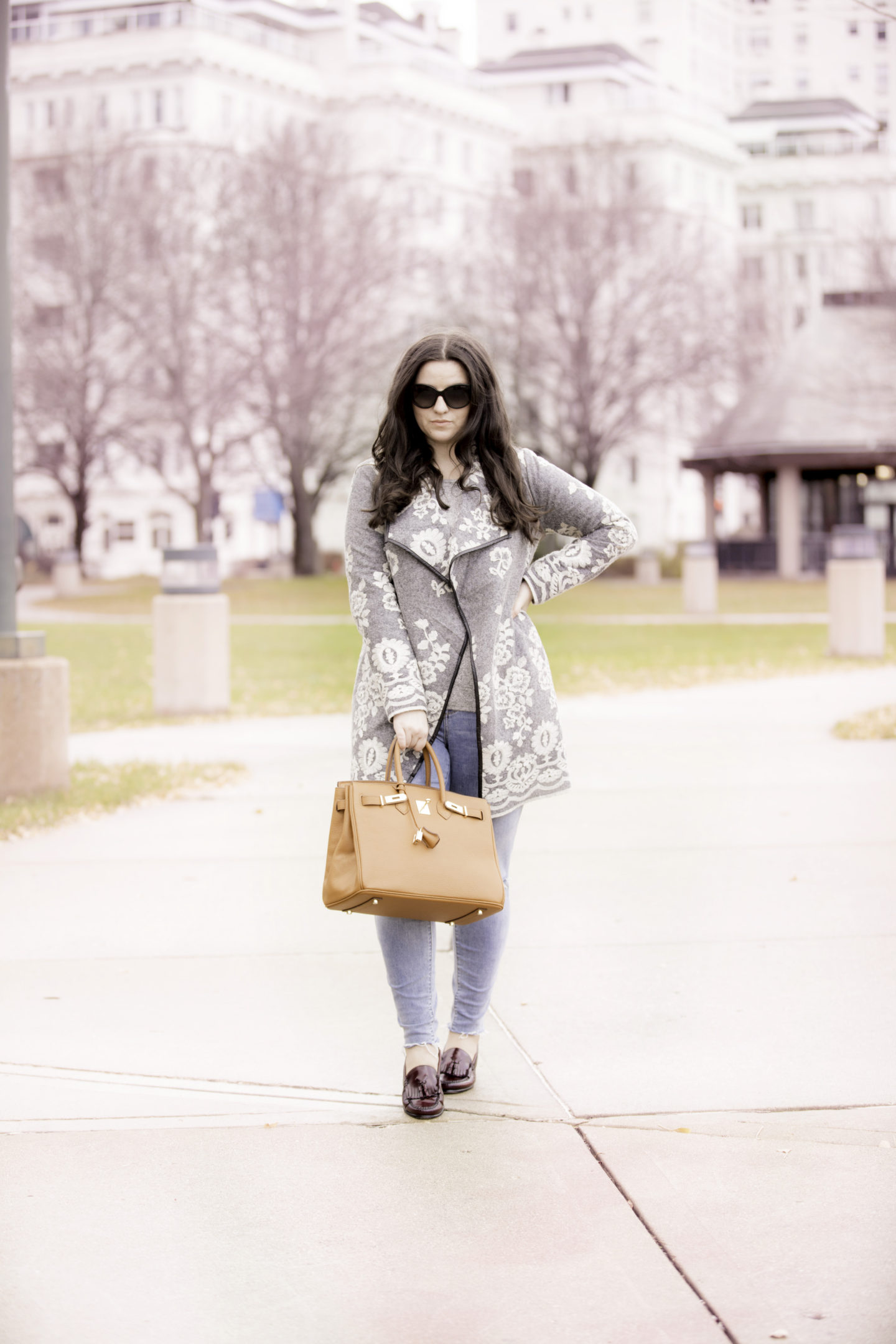 Lace Embroidered Coat For A Day In The City