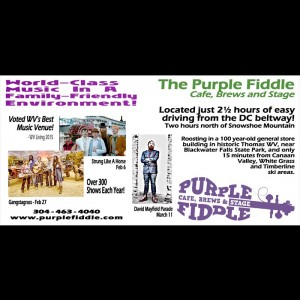 Purple Fiddle. Thomas, WV